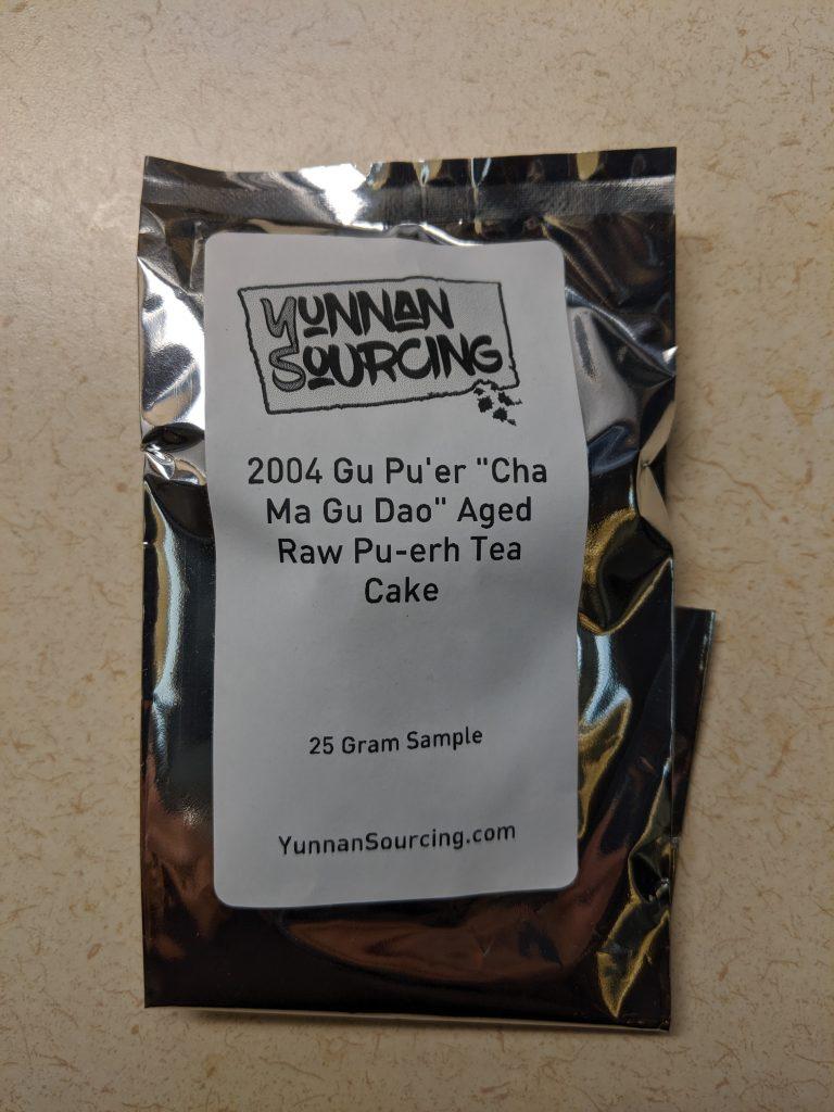 "2004 Gu Pu'er ""Cha Ma Gu Dao"" Aged Raw Pu-erh Tea Cake"